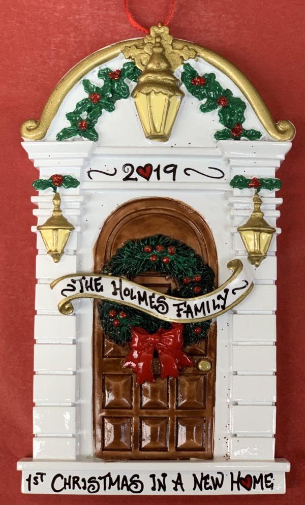 brown door personalised decoration