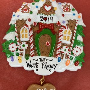 A Gingerbread house personalised decoration